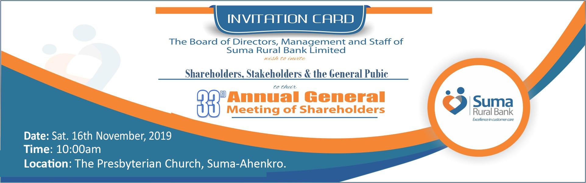 AGM Invitation Notice